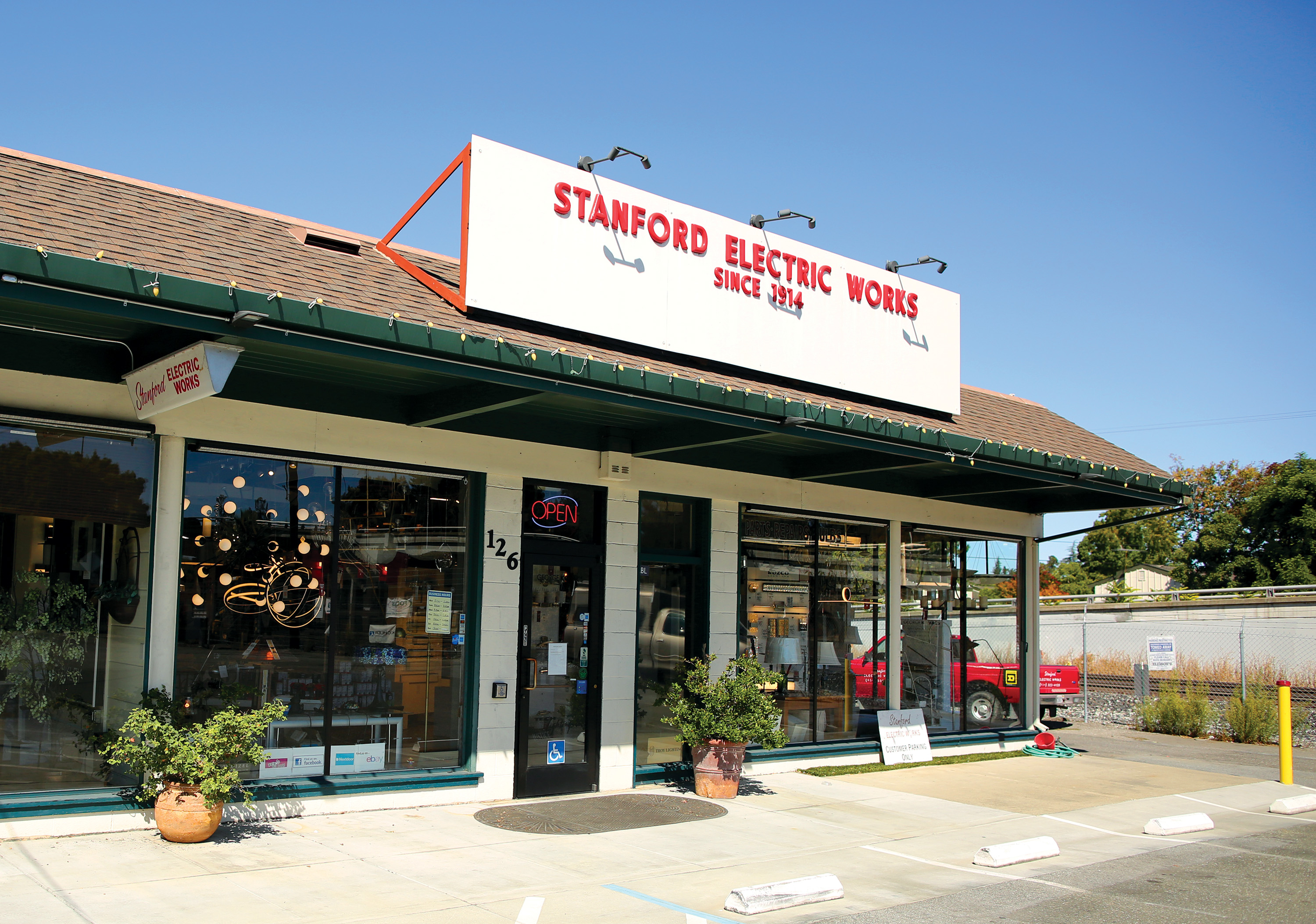 Stanford Electrical Works, previously located at High and Everett streets in Palo Alto, moved to Mountain in 2013. Photo by Sammy Dallal.