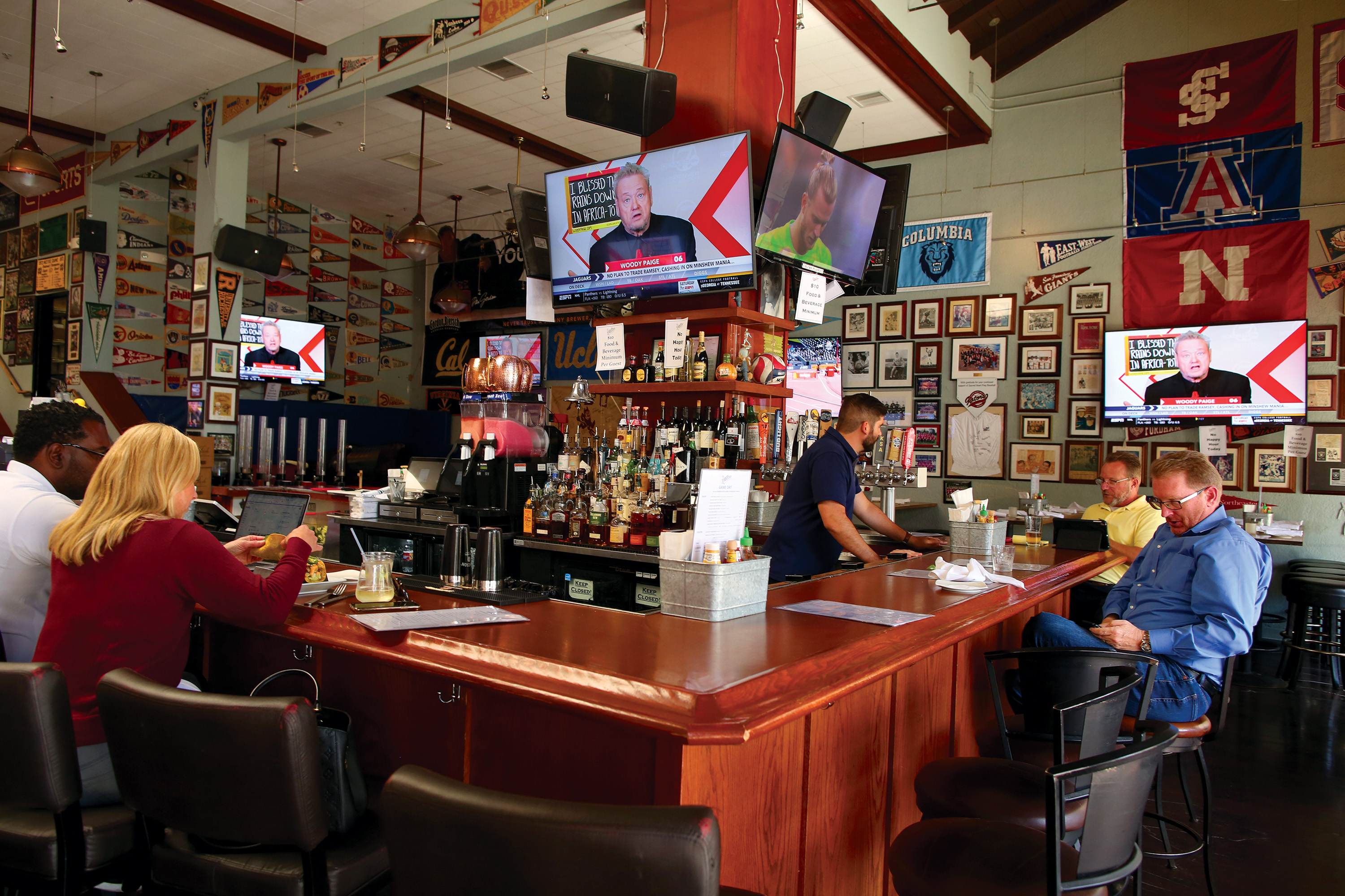 Old Pro sports bar located at 541 Ramona St. doesn't offer its happy hour menu during