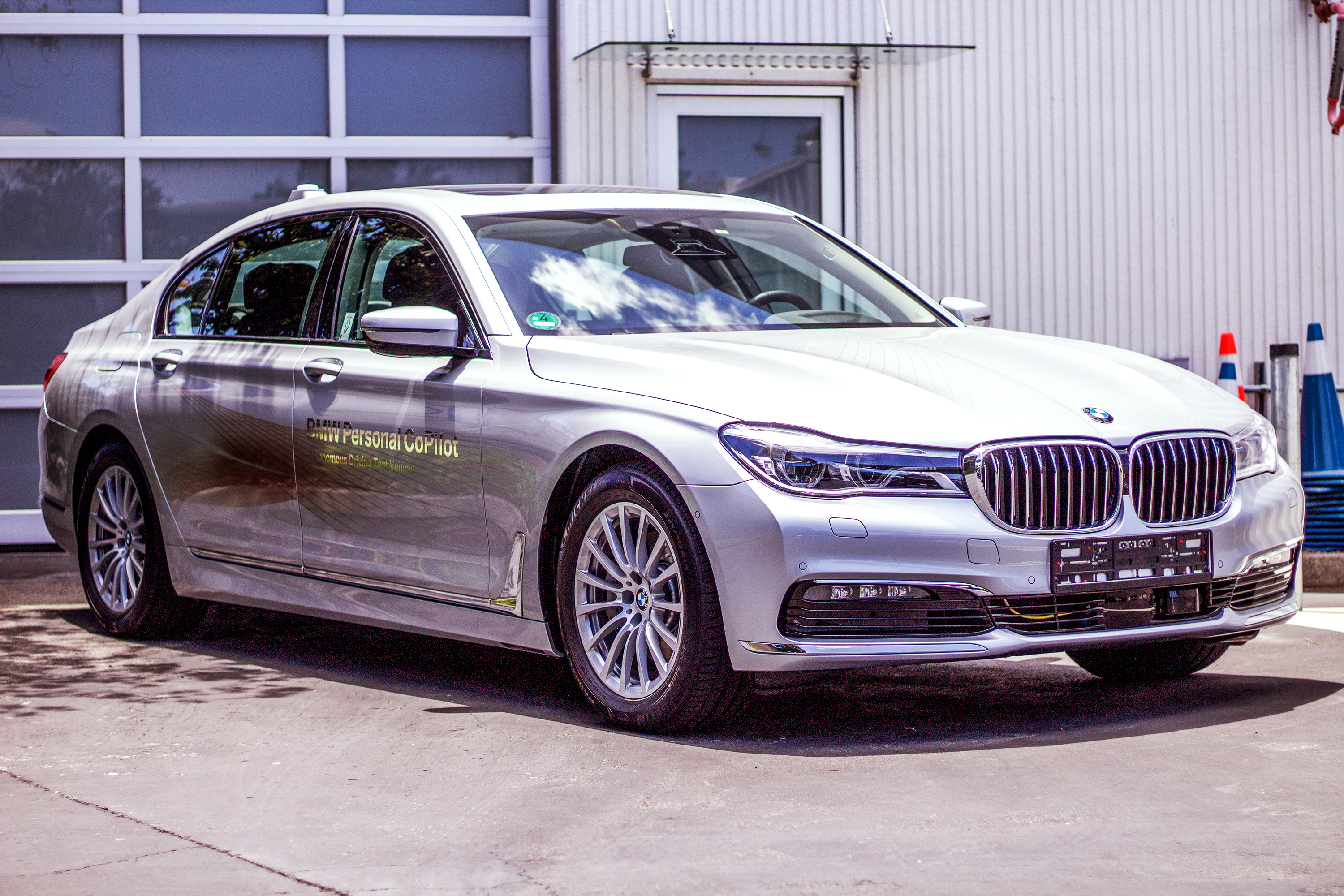 Developed at the BMW Tech Office in Mountain View, this 5 series sedan features the company's Level 2 autonomous-vehicle features.Photo by Ben Hacker.