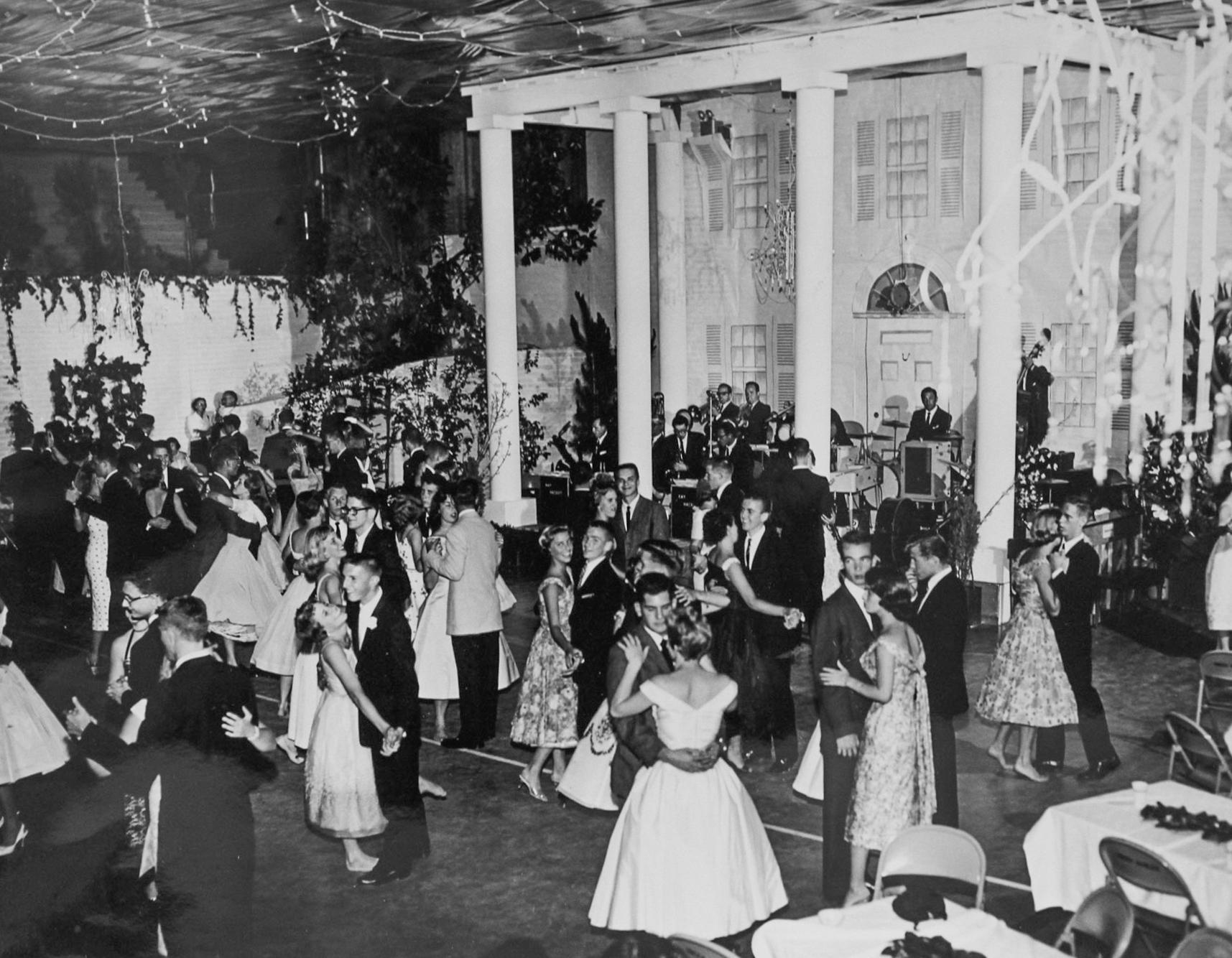 "The ""Senior Party"" held June 12, 1958. Image courtesy Rachel Kellerman."