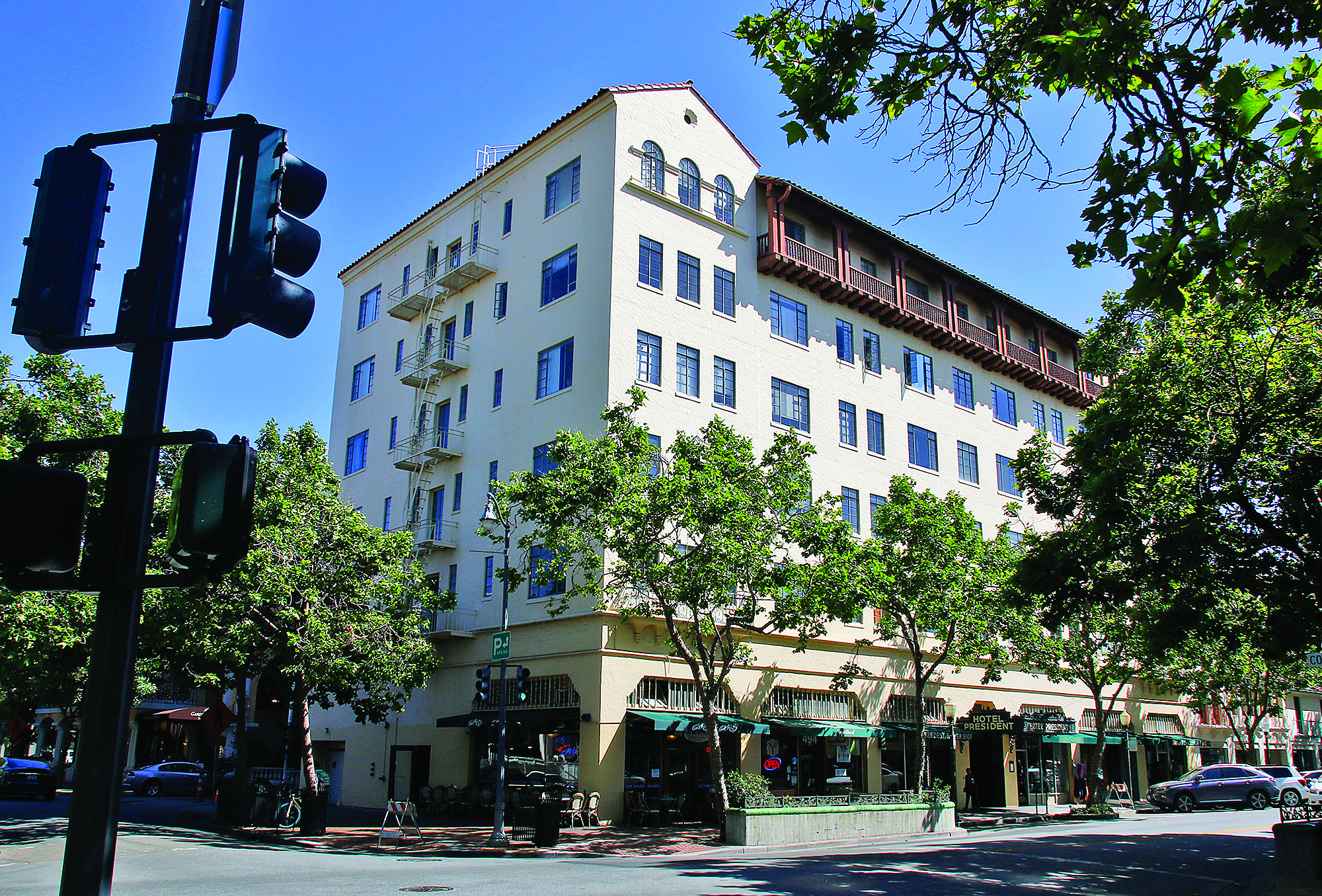 The longtime Hotel President is one of several buildings around town that exceed the city's height limit.