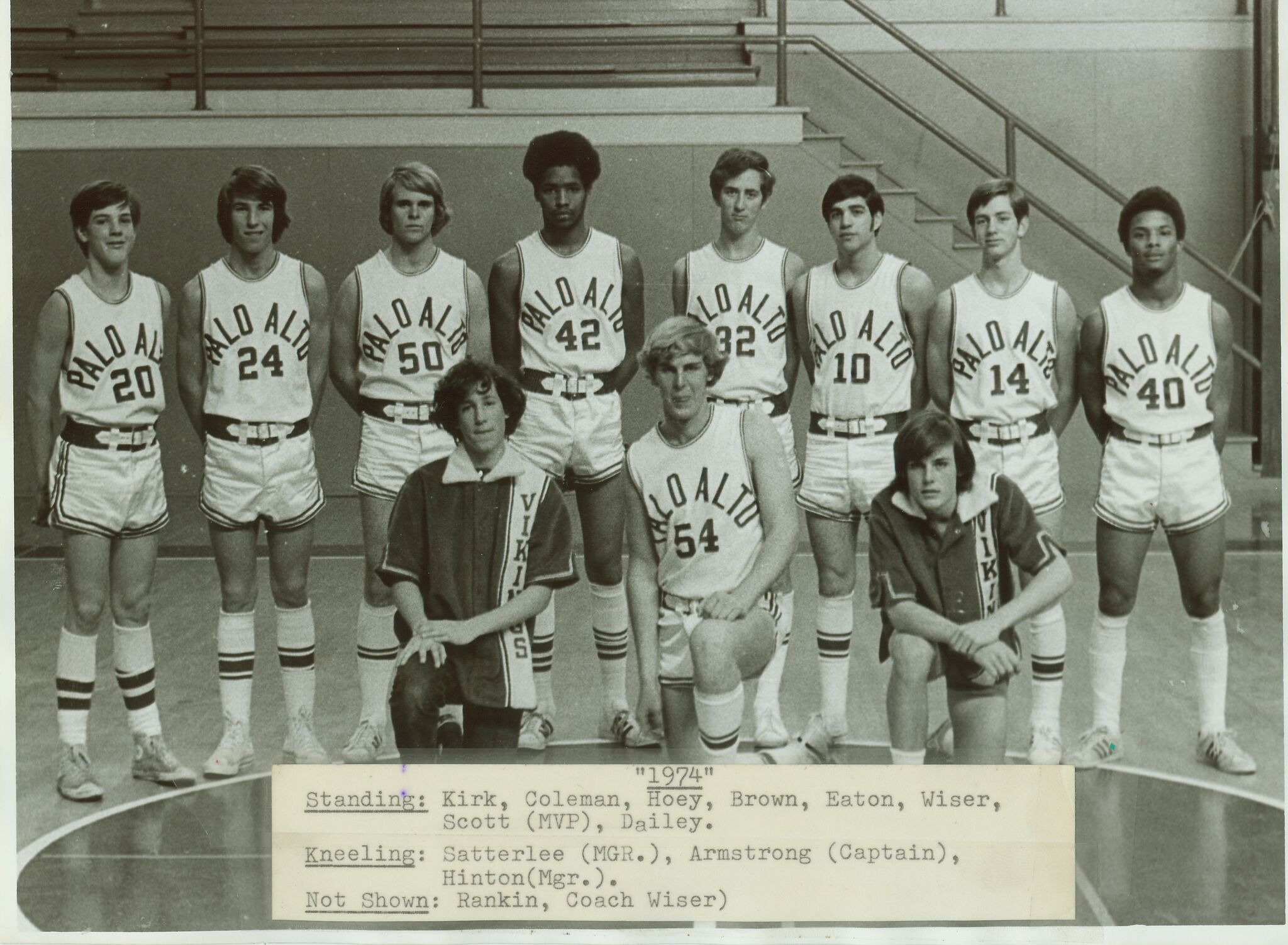 Basketball was central to Jimmy Brown, fourth from left, while he attended Palo Alto High School in the 1970s. Photo courtesy the Brown family.