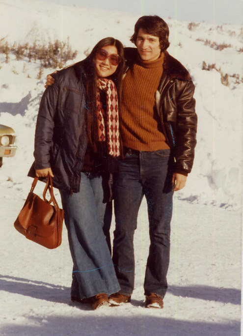 Karen Kang and Jon Ferraiolo met at the Stanford-in-France program in 1974 and crossed paths again in fall 1975 at an overseas-program reunion in Woodside. Photo courtesy Karen Kang.