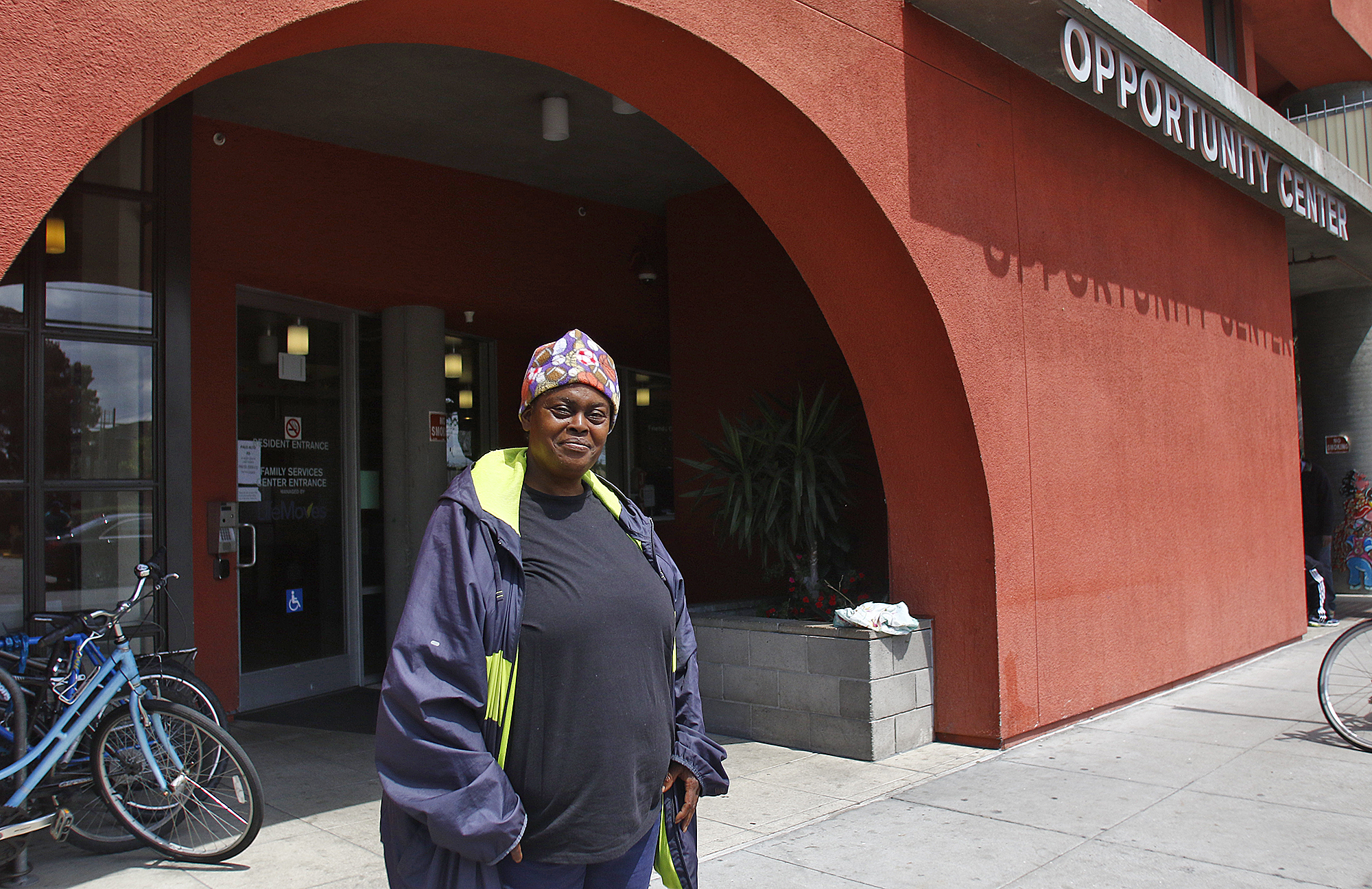 Mae Law, a native of Santa Cruz, grew up in East Palo Alto but became homeless after falling into addiction. She's now clean and sober and looks forward to moving back to Santa Cruz after this October.