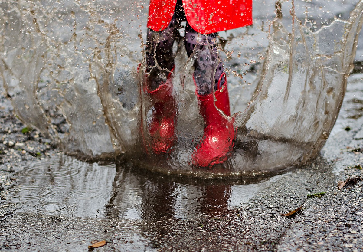 """Moments:""""If You Jump In Muddy Puddles, You Must Wear Your Boots"""" by Sharon Kenney"""