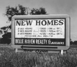 Real estate agentsin the 1950s profited by buying homes from white families in Belle Haven at low prices and selling them to black families at higher rates, a process known as blockbusting. (Photo courtesy Menlo Park Historical Association.)