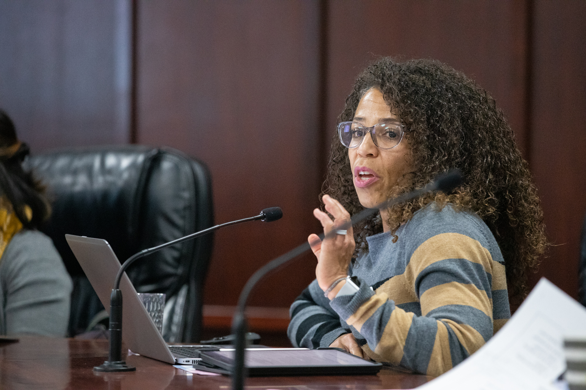 Gina Suadria became the Ravenswood City School District's interim superintendent after Gloria Hernandez-Goff was put on paid administrative leave and forced to resign in February. Photo by Magali Gauthier.
