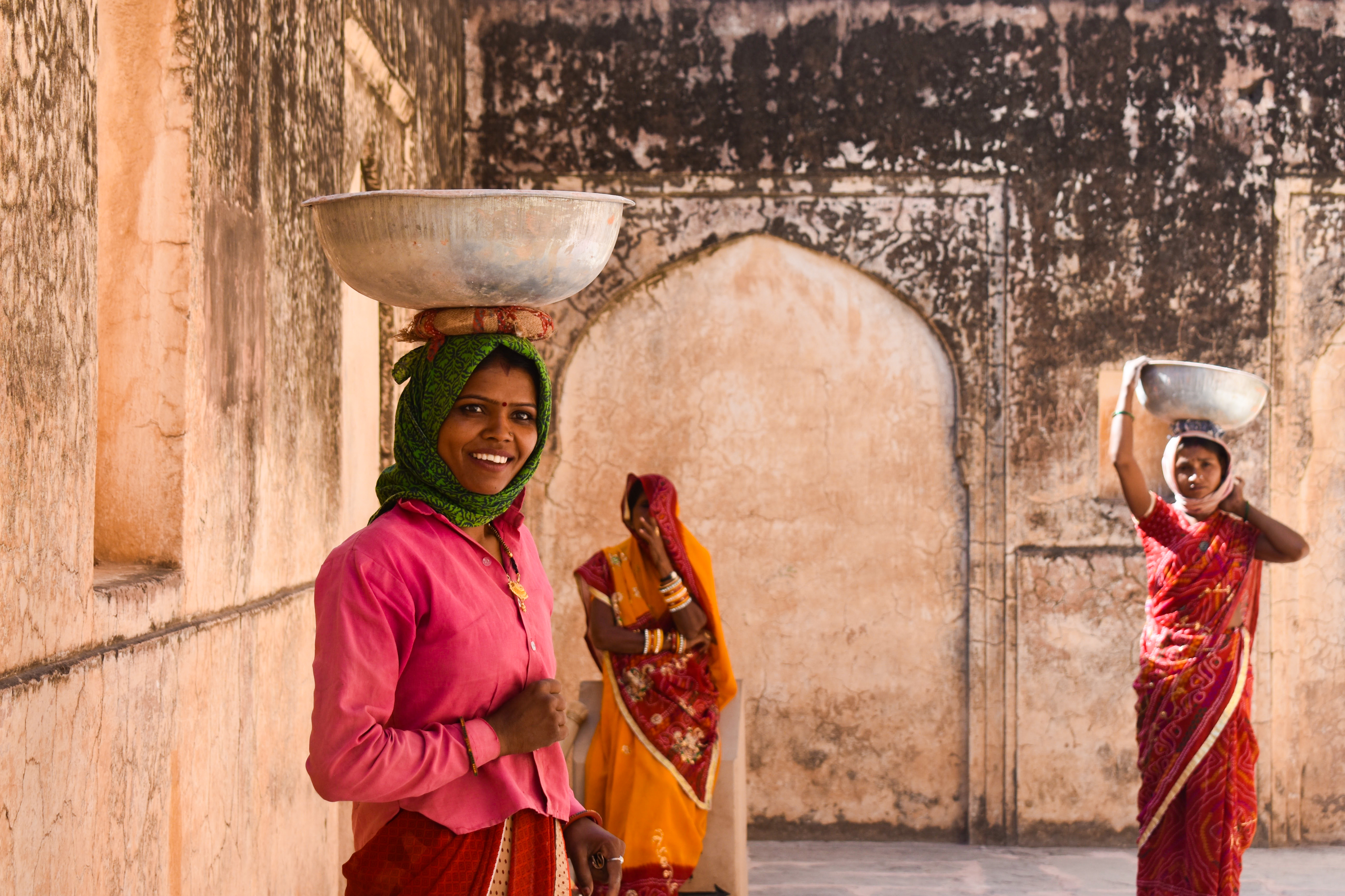 """Artist comments: """"'Amer Fort' shows the strength of women in India. They are the backbone of Indian society."""""""